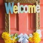 Picture Frame Front Door Wreath