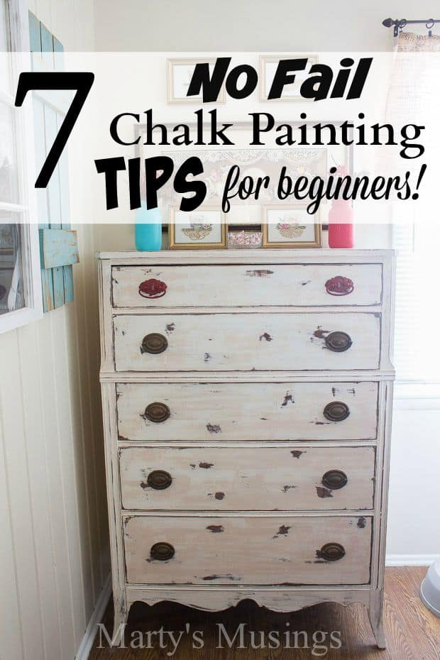 Chalk painting tips for beginners will liberate you from with chalk