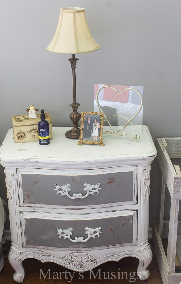 By Using Both Chalk Paint And Behr This Bedroom Furniture Went From Outdated To Shabby