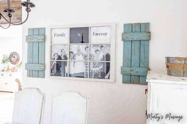 Old Window Photo Frame DIY Tutorial