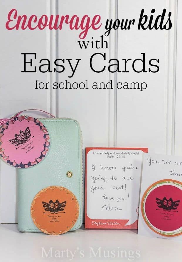 Short video and tutorial contains easy and inexpensive ways to encourage your kids with creative notes for school and camp. Show your kids they are loved!