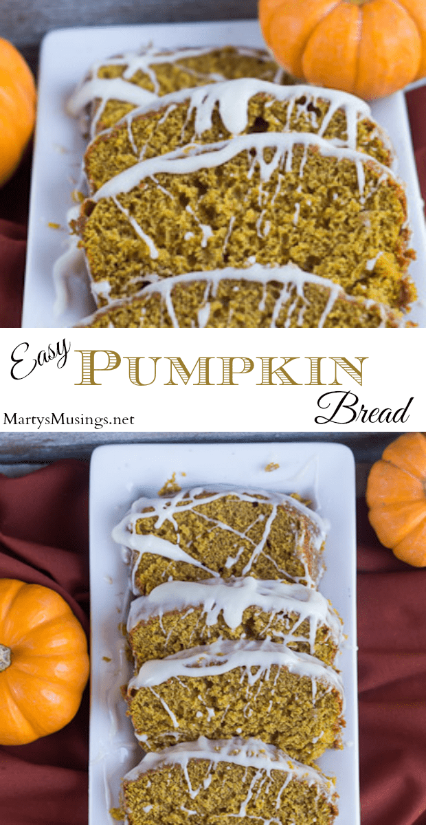 This easy pumpkin bread with cream cheese frosting is a guaranteed hit to ring in the fall season. With just a few handy ingredients it's perfect for school parties, family dinners and church potlucks.