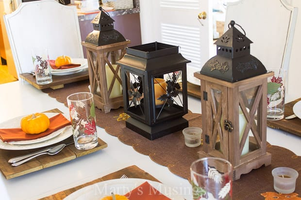 Using everyday items found at Big Lots this easy fall table setting and pumpkin bread recipe anchor the perfect occasion to entertain friends and family.