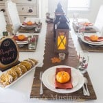 Fall Table Setting and Pumpkin Bread Recipe