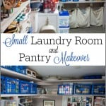 Small Laundry Room Ideas and Pantry Makeover