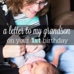 First Birthday Ideas and a Letter from Nana