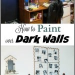 How to Paint Over Dark Walls