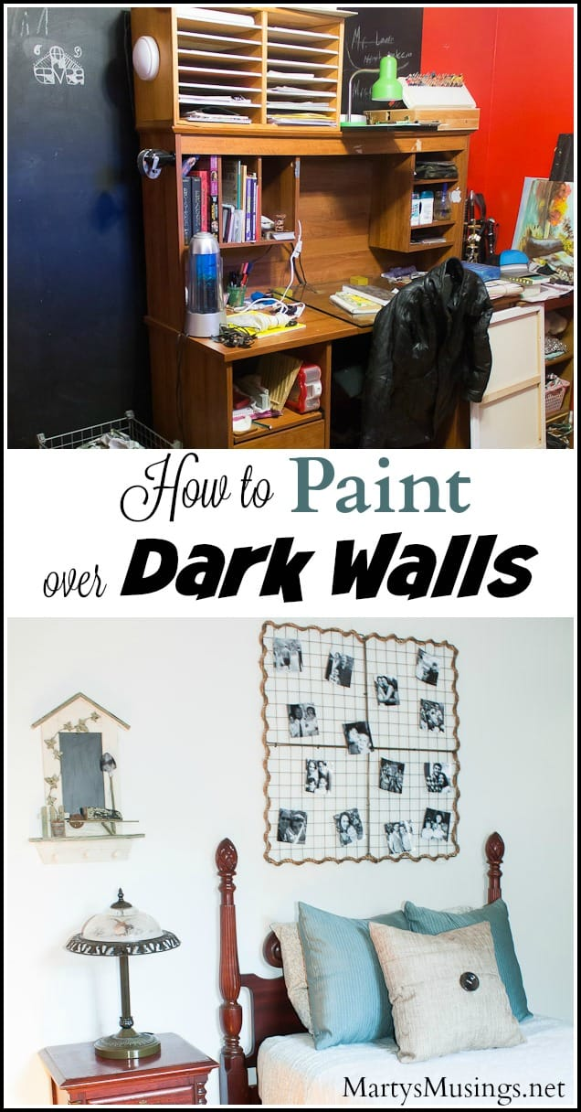A professional painter shares tips on how to paint over dark walls in your home including preparation, product and how to do it the right way!