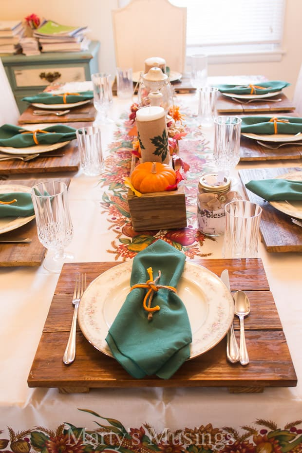 Entertaining for Thanksgiving dinner doesn't have to be stressful or expensive. Use what you have on hand, ask guests to bring a dish and make the most of moments with loved ones.