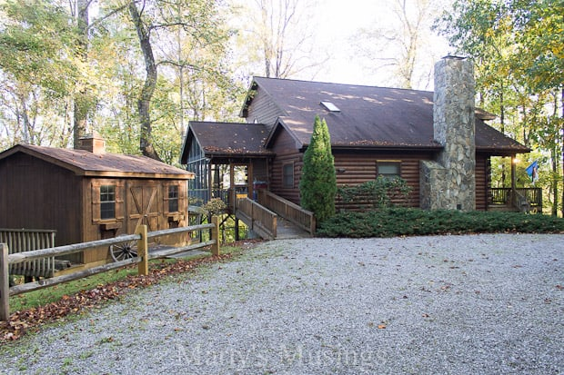 Tour this rustic cabin in the NC mountains with western theme decor, a visual delight with beautiful pine wood throughout and delightful, one of a kind accessories.
