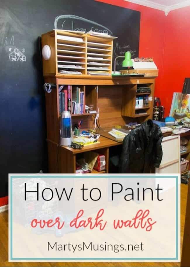 how to paint over dark walls tutorial and production information