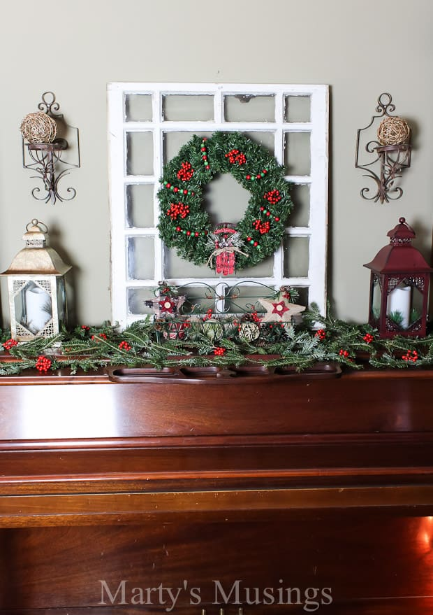 Christmas mantel decorating ideas marty 39 s musings for Christmas mantel design ideas