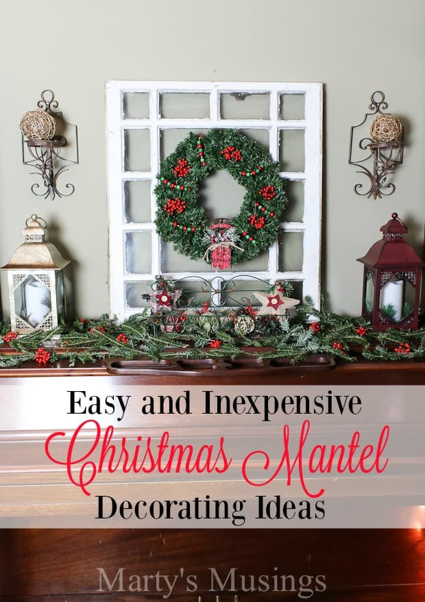 Christmas Mantel Decorating Ideas Martys Musings - Mantel christmas decorating ideas