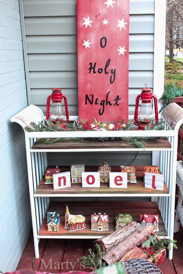 This rustic fence board O Holy Night sign is a perfect addition to a holiday home for display either indoors or outdoors. Made with scrap wood, painted, with vinyl letters added, the post includes step by step details on this DIY project.