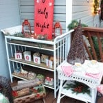 Fence Board O Holy Night Sign