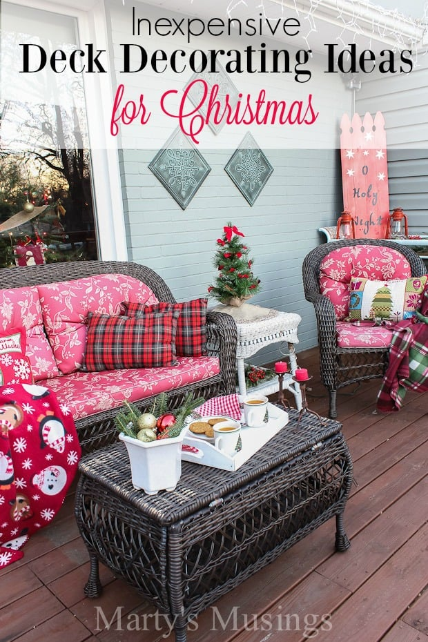 Inexpensive Deck Decorating Ideas for Christmas | Marty\'s Musings