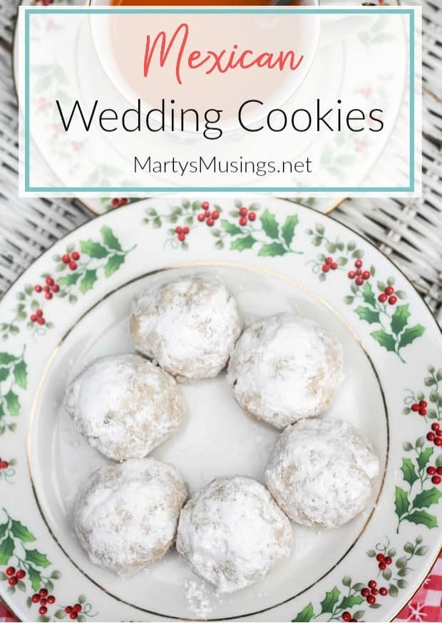 Mexican Wedding Cookies, sometimes called Russian tea cakes