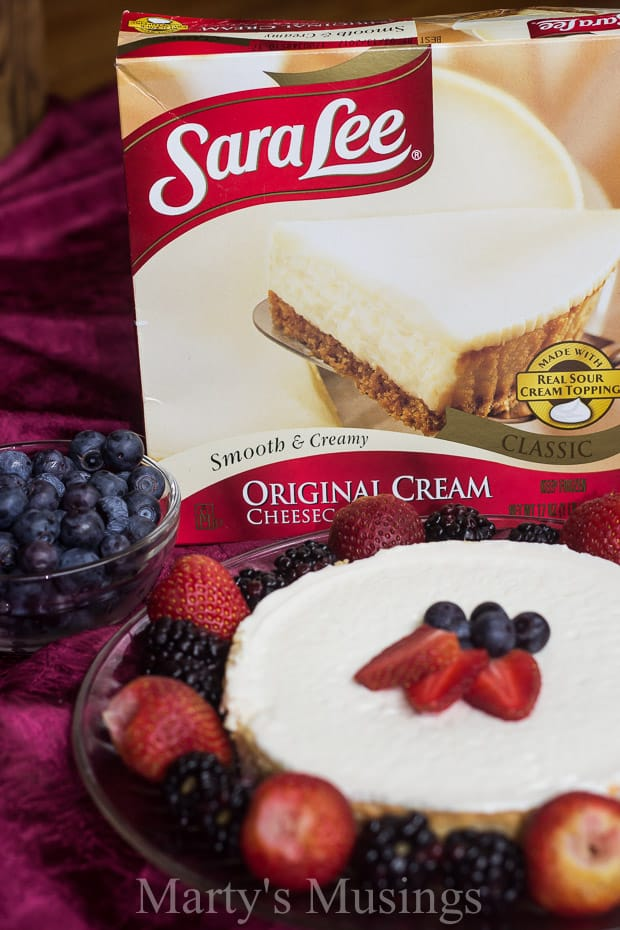 Offer fresh fruit toppings as a perfect addition for a Sara Lee Classic Cheesecake and enjoy time spent together creating memories as a family.