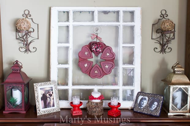 These thrifty and easy Valentines Day decor ideas will have you shopping your home, books and photographs for easy and sentimental ways to decorate your home for the holiday.