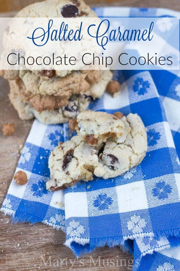 Is there anything more welcoming than warm cookies and milk? This Salted Caramel Chocolate Chip Cookies recipe will up your game as best mom and hostess!
