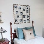 By using paint, thrifted and repurposed materials this teen boy bedroom makeover is completed on a budget and turned into a rustic coastal retreat.