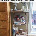 Trash to Treasure DIY Step Ladder Shelf