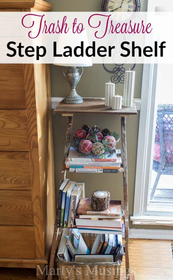 Diy Step Ladder Shelf