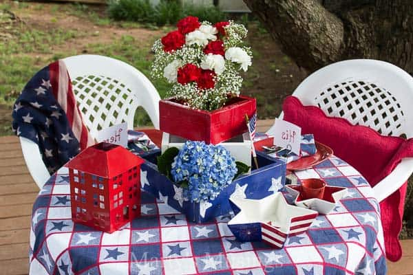 DIY Centerpiece for 4th of July