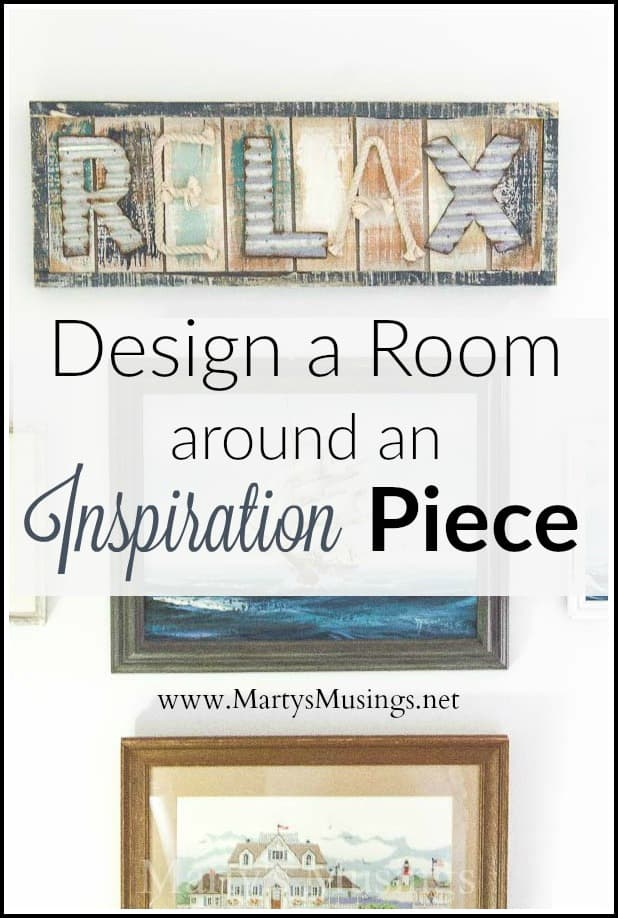 Learn how to design a room by choosing an inspiration piece and using texture, colors and theme as the starting place for an entire room makeover.