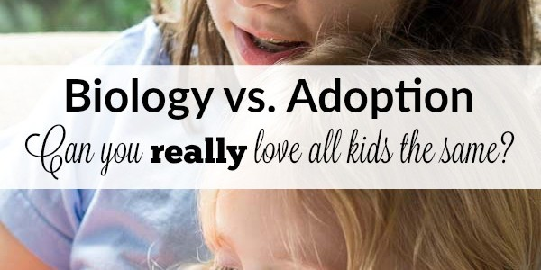 In this heart wrenching post, a bio and adoptive mom answers every parent's question. Can you love your adopted child as much as your biological one?