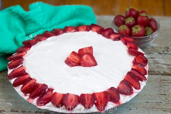 Substitutions such as plain Greek yogurt make this easy No Bake Strawberry Cream Pie healthier while still tasting delicious and a crowd pleaser all year!