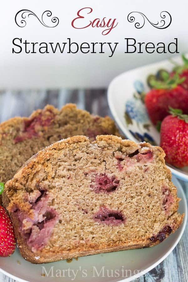 This easy strawberry bread recipe is terrific with either fresh or frozen strawberries. Only one bowl needed and will make loaves or muffins!