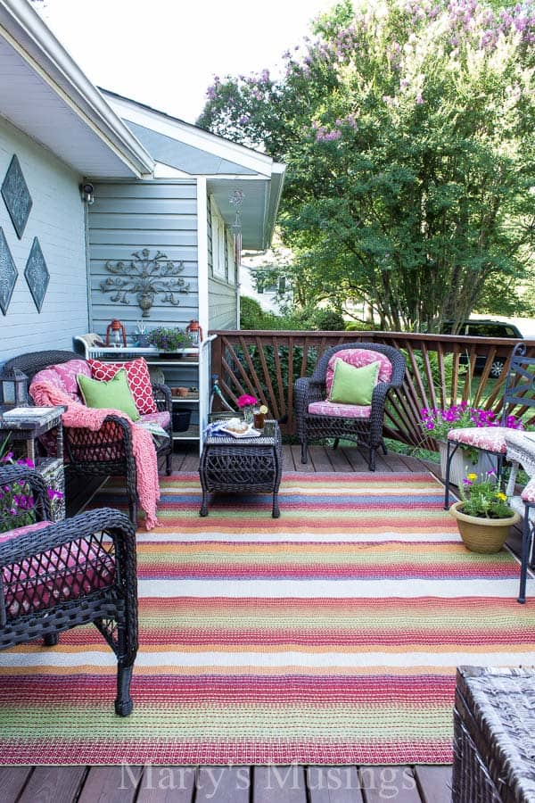 Deck decorating ideas on a budget for Patio decoration images
