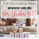 Fall Decorating Ideas for Under $10