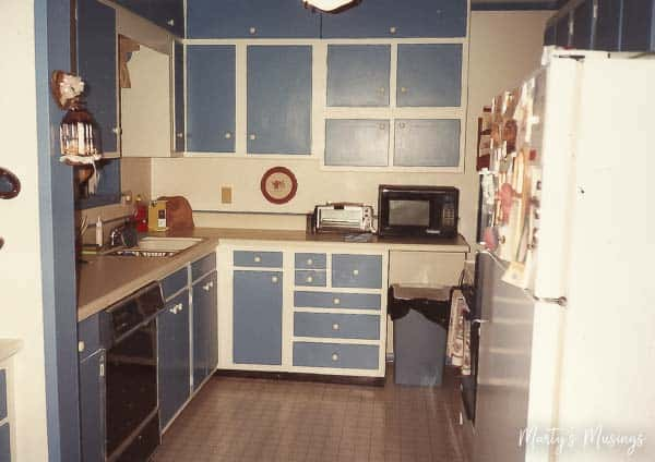 Follow DIY blogger Marty's Musings as she turns her dated 1950's home into an authentic beauty starting with this small ranch home kitchen remodel.