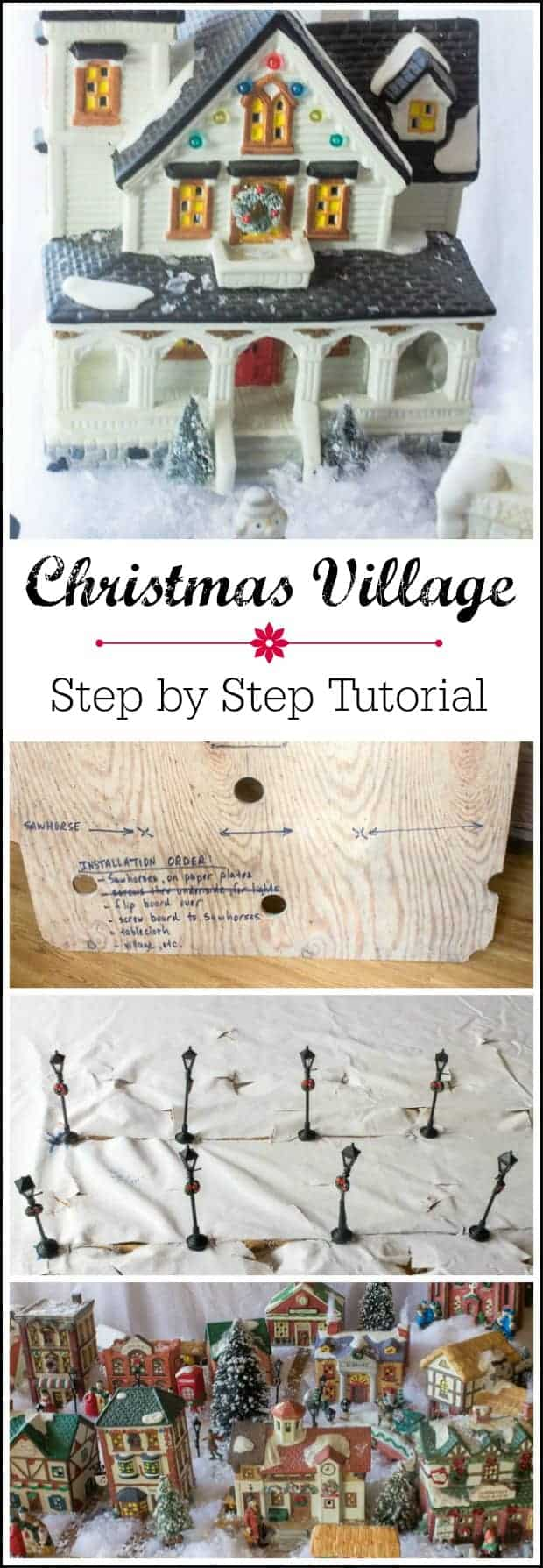 Step by step instructions on how to create a miniature Christmas village display with thrifty money saving tips. Kids young and old will love it!