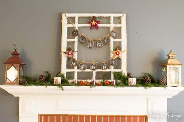 How to Decorate a Christmas Mantel the Cheap Way!