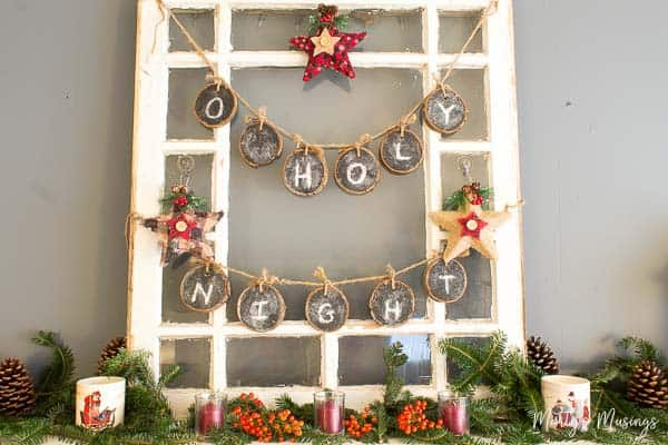 DIY Chalkboard Banner Wood Slices