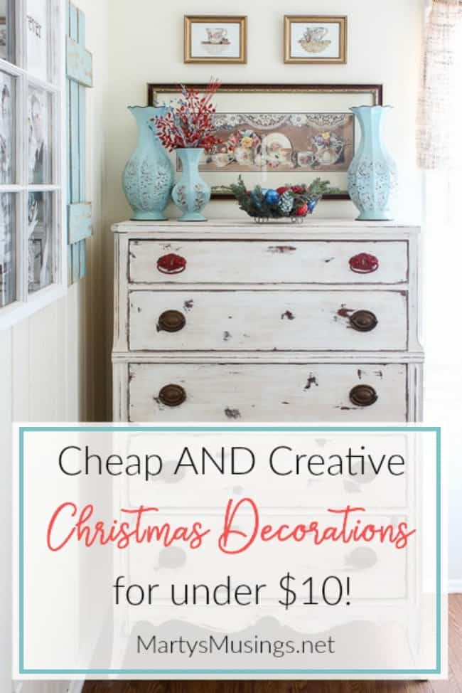 cheap and easy Christmas decorations for under $10