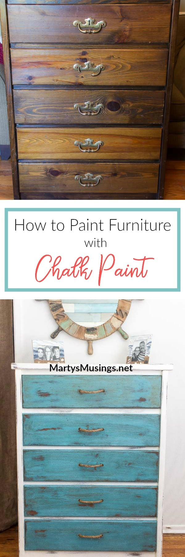 Don't throw away that old, beaten up piece of furniture! Learn how to paint furniture with chalk paint and transform it the cheap and easy way!