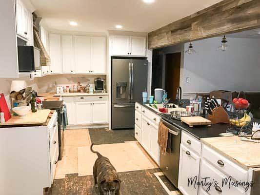 Kitchen torn apart? Everything you need to know to set up a temporary kitchen during a remodel plus tons of practical tips for surviving the process!