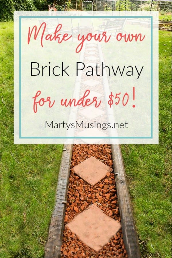 Want a one of a kind outdoor area? Learn how to lay a brick pathway for almost nothing with these step by step instructions and DIY tips.