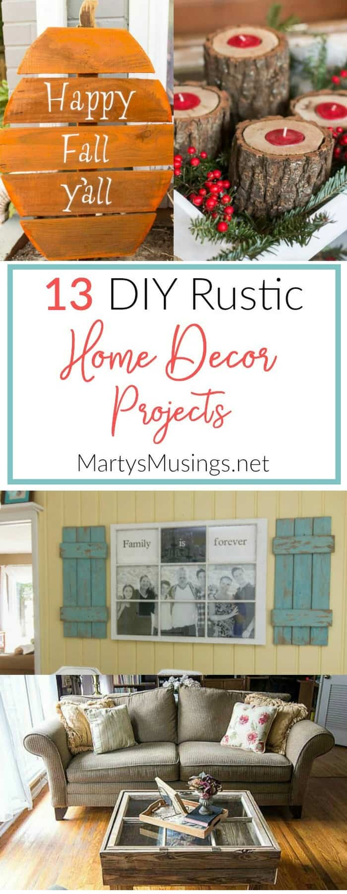 Rustic home decor projects for the thrifty decorator for Unusual home decor ideas