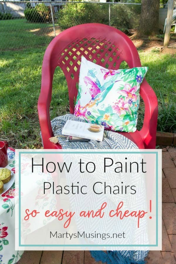 how to spray paint plastic chairs an easy makeover. Black Bedroom Furniture Sets. Home Design Ideas
