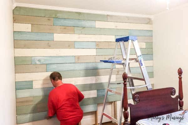 How To Diy Plank Walls With Chalk Paint Marty S Musings
