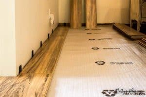 How to install snap together laminate flooring 1 2 martys musings these step by step instructions on how to install laminate flooring include tips and tricks on solutioingenieria Gallery