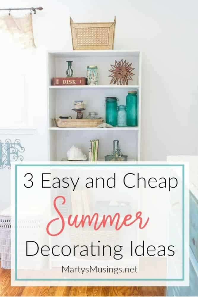 You can decorate your home quickly and easily with these summer decorating ideas by using bright colors, coastal accessories, and plants and flowers to enjoy.