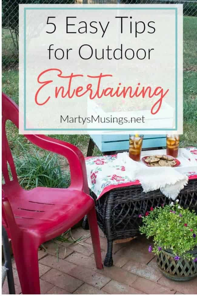 Take the worry out of planning a party or gathering with these 5 outdoor entertaining tips. Save money, time AND enjoy your guests!