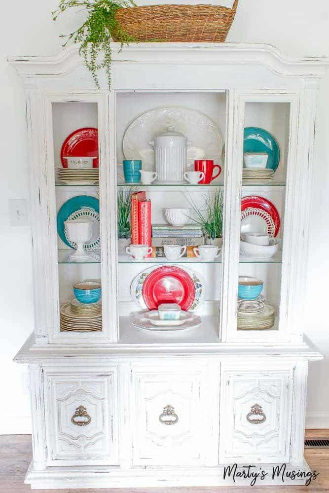 Diy China Cabinet Makeover Red