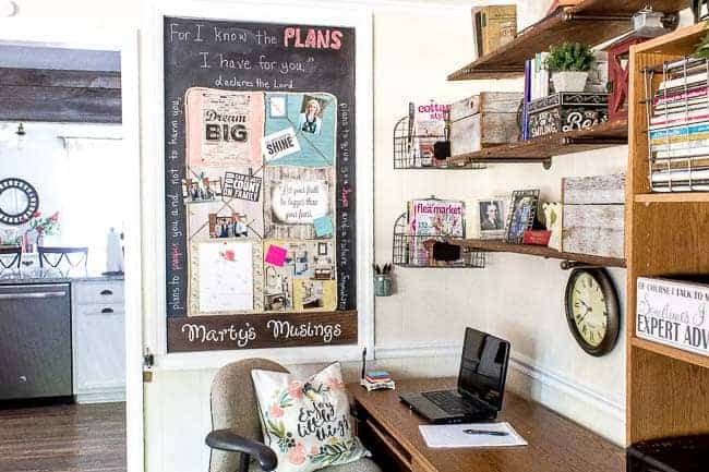DIY Bulletin Board for Your Home Office
